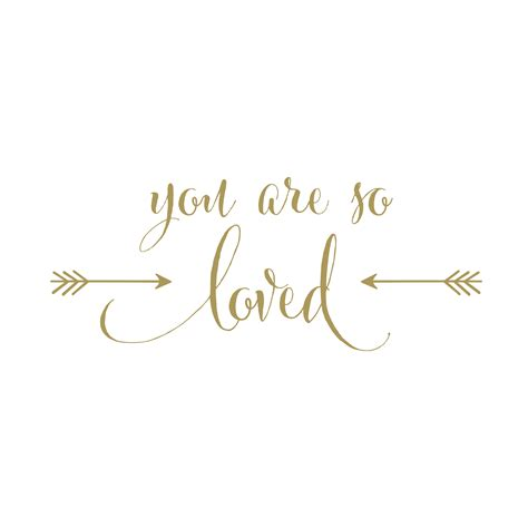 you are so loved vinyl wall decal version 2 arrows gold nursery decor