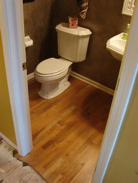 hardwood flooring bathroom make it fast with engineered wood flooring
