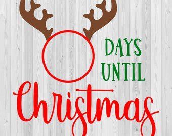 days till christmas template days until christmas etsy