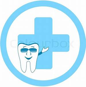 Cartoon tooth showing medical symbol - dental clinic sign ...