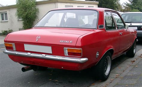 Opel Ascona by File Opel Ascona A Rear 20071012 Jpg