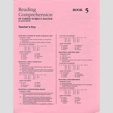 Reading Comprehension 5  Answer Key  School Specialty Eps