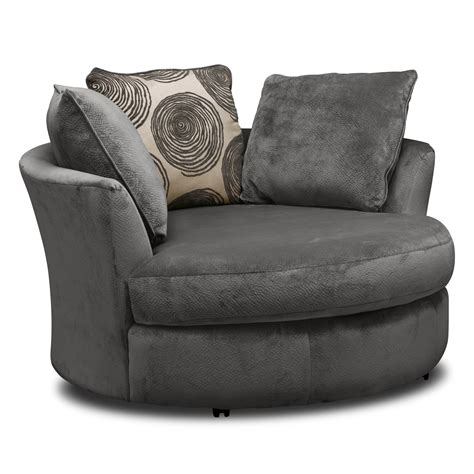 cordelle swivel chair gray  city furniture