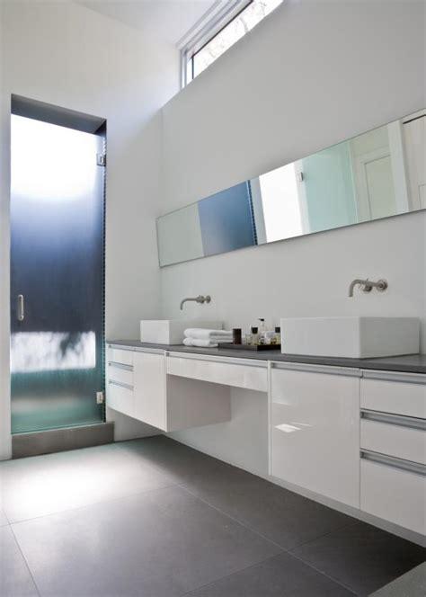 floating double vanity  white modern bathroom hgtv