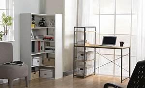 Bureau avec bibliothèque intégrée. bureau avec biblioth que int gr e