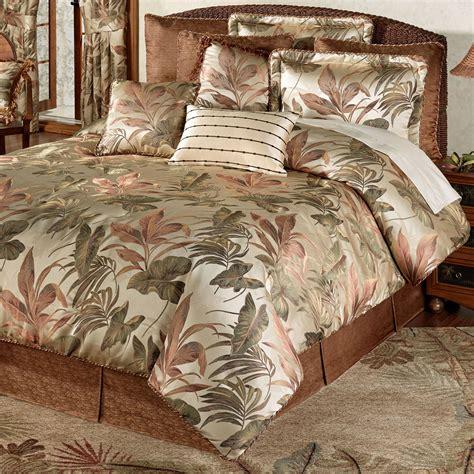 bali palm tropical comforter bedding  croscill