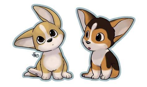 cute cartoon corgis corgis   puppy drawing cute