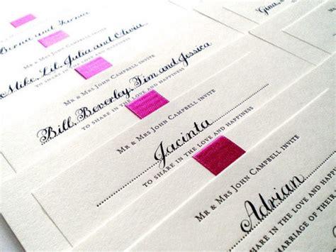 Proper Etiquette For Your Wedding Invitations