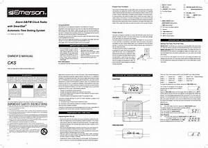 Emerson Clock Radio Cks1702 User Guide
