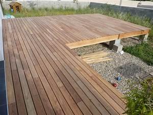 terrasse robinier sur poutres douglas 45 messages With terrasse bois avec piscine 1 terrasse bois piscine lame terrasse chene meleze douglas