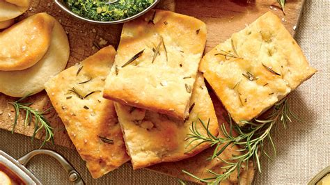 rosemary focaccia bread party appetizers recipes southern living