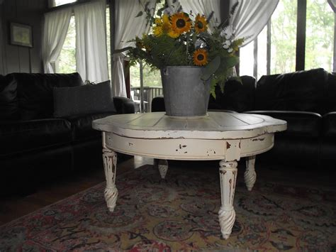 They suit well for uses on any varied occasion and become a way to make a style statement when you have company. Serendipity Chic Design: French country coffee table
