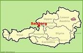 Salzburg austria map - Austria salzburg map (Western ...