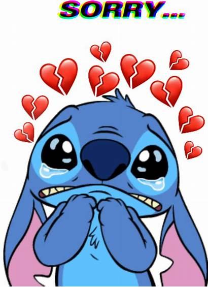Stitch Heart Sad Broken Lilo Clipart Cry
