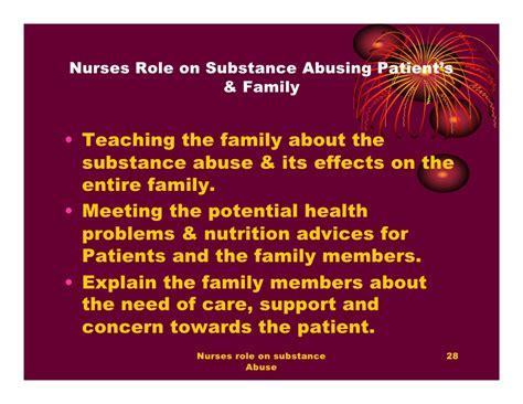 nurses role  substance abuse  philo