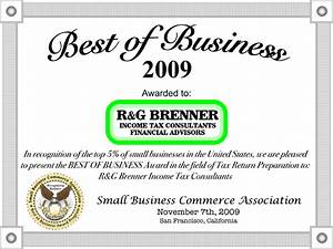 R&G Brenner Receives 2009 Best Of Business Award - R&G Brenner