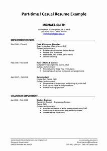 Part Time Job Resume Examples 2018