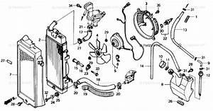 Honda Motorcycle 1987 Oem Parts Diagram For Radiator