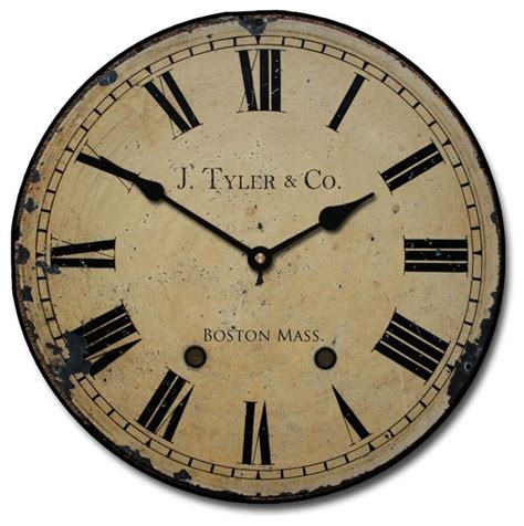 Old Fashioned Living Room Furniture by Shop Houzz J Tyler Astor Clock Roman Numerals Wall Clocks