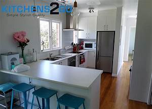 White Cabinetry Solid Wood Floors With White Laminate