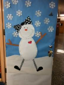 snowgirl winter classroom door idea myclassroomideas com
