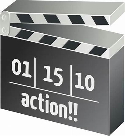 Clip Clapper Board Action Clapperboard Film Clipart