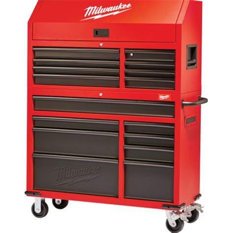 best deals on tool cabinets 46 quot rolling steel storage chest and cabinet milwaukee tool
