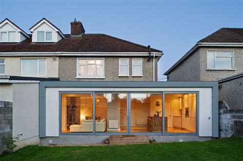 change semi detached ground floor layout  open plan google search house extension plans