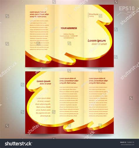 Yellow Brochure Design Vector Millions Vectors Brochure Design Template Vector Folder Leaflet Ribbon