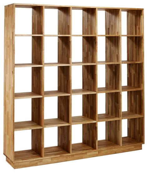 Mash Lax Solid Wood Large Modern Bookshelf Modern