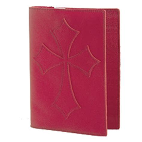 bob siemon designs red leather flared cross bible cover