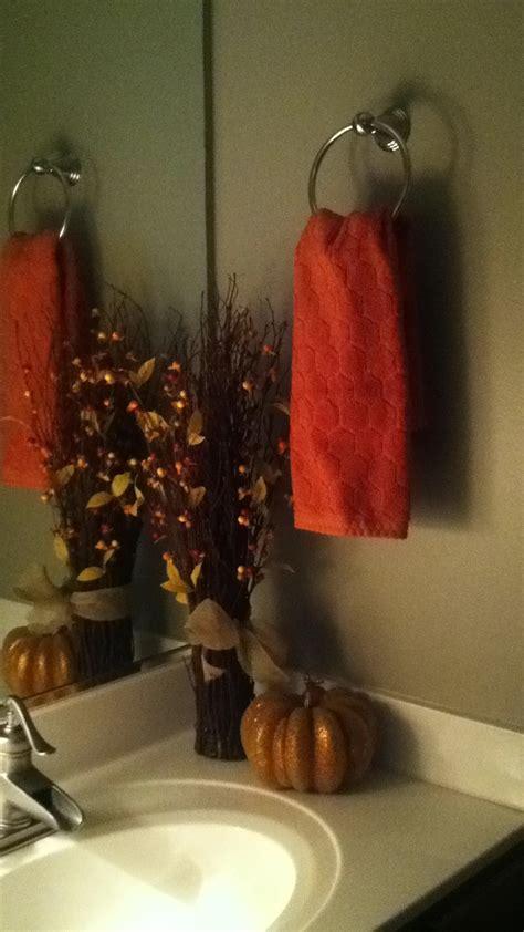 bathroom fall decorations decor fall pinterest
