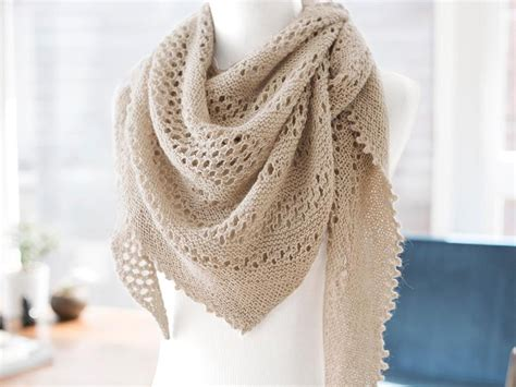 hot oatmeal lace shawl knitting kit craftsy