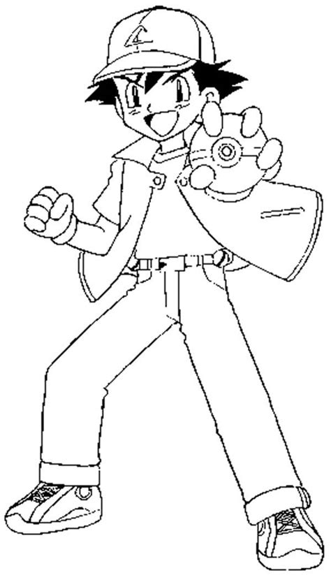 ash ketchum fighting style  pokemon coloring page coloring sky
