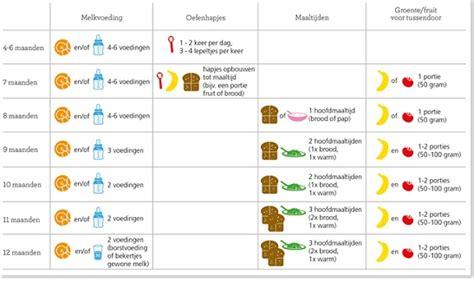 voedingsschema 3 maanden