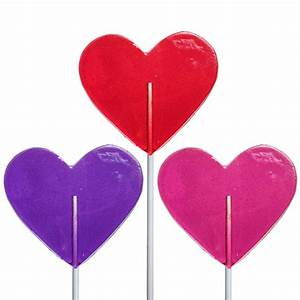 Valentine Medium Heart Lollipops by Melville Candy
