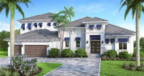 Florida House Plan With High Style