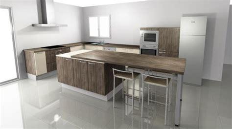 table escamotable cuisine ilot central cuisine avec table escamotable id 233 e d 233 coration