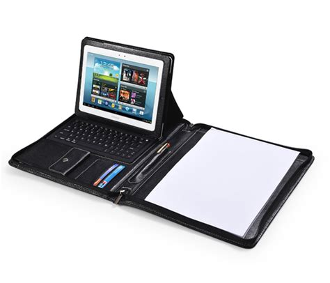 deluxe leather samsung galaxy tablet case  keyboard