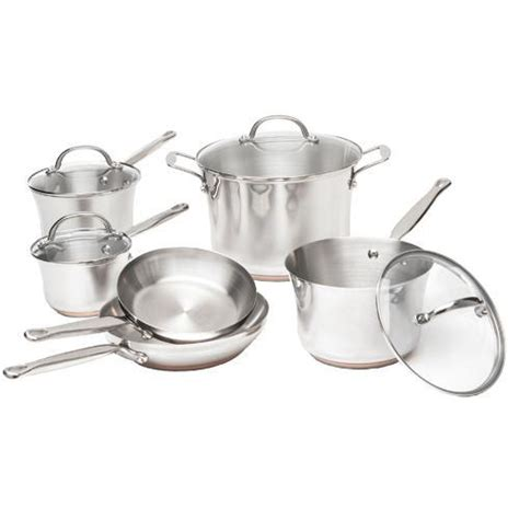 stainless steel cookware kitchenaid piece lids safe handles oven dishwasher glass