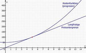 Langfristige Preisuntergrenze Berechnen : grenzfunktion st ckkostenfunktion minimieren warum steigen die kosten f r x 5 mathelounge ~ Themetempest.com Abrechnung