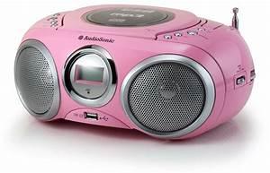 Kinder Mp3 Player : stereoanlage kinder boombox tragbar radio cd mp3 player usb tristar cd 1572 rosa ebay ~ Sanjose-hotels-ca.com Haus und Dekorationen