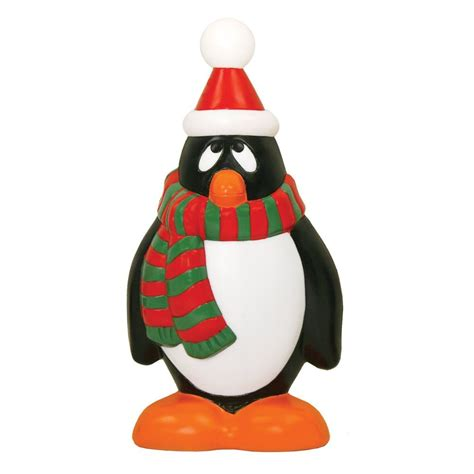 28 quot holiday penguin plastic outdoor blow mold christmas