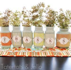Thanksgiving Centerpiece Ideas with Mason Jars
