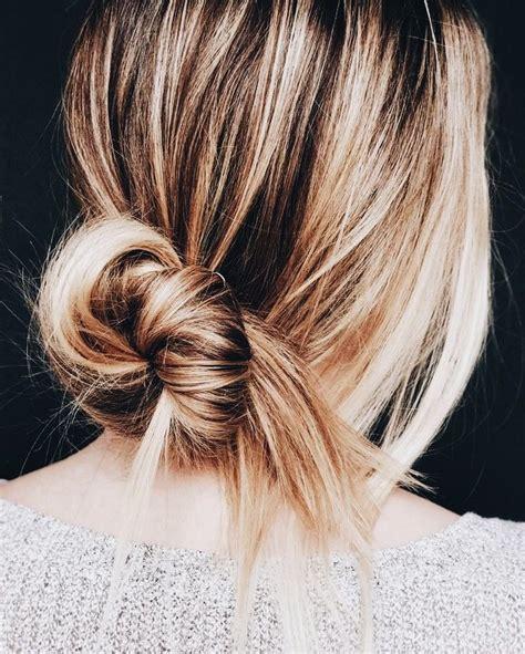 thin hair updo ideas  pinterest messy bun