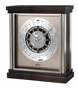 Bulova, B2258, Wyndmere, World, Time, Desk, Clock