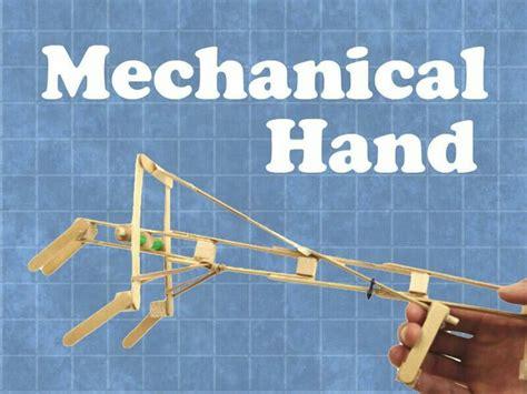 build   mechanical hand  popsicle sticks