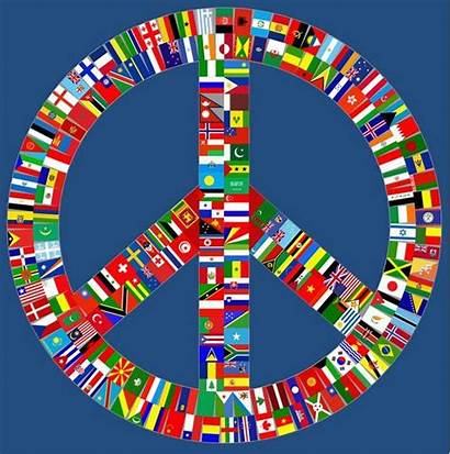 Peace Sign International Multiculturalism Symbols Flags Signs