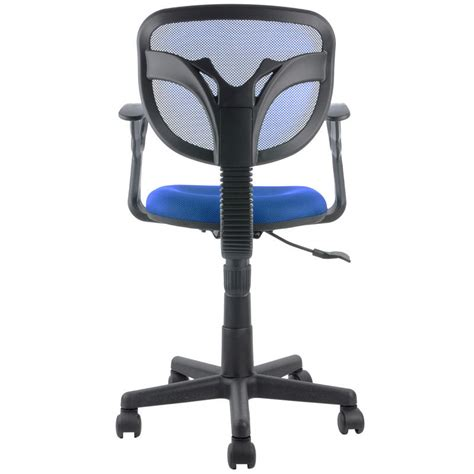 blue adjustable gas lift mesh back swivel computer chair