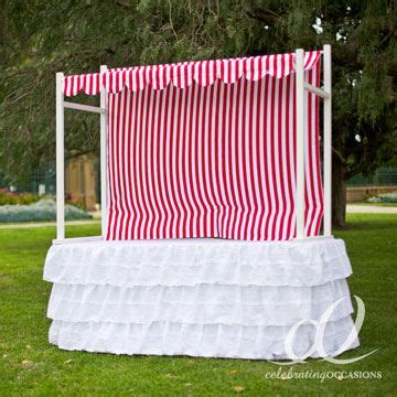 table top canopy tent lolly buffet table top frame hire with red white